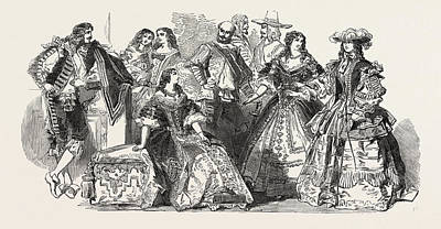 Her Majesty Queen Victorias Costume Ball At Buckingham Poster by English School