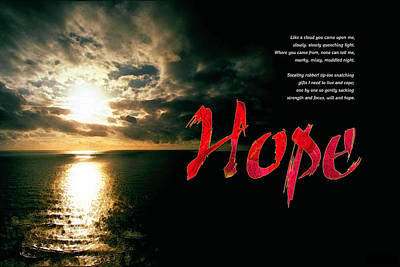 Poster featuring the digital art Hope by Chuck Mountain