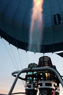 Hot Air Balloon Gas Burner Poster by Photostock-israel
