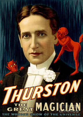 Howard Thurston, American Magician Poster by Photo Researchers
