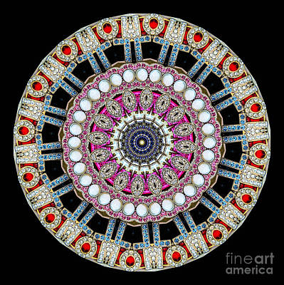 Kaleidoscope Colorful Jeweled Rhinestones Poster by Amy Cicconi