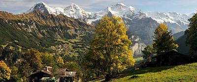 Lauterbrunnen Valley With Mt Eiger Poster