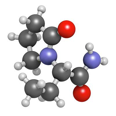 Levetiracetam Epilepsy Drug Molecule Poster by Molekuul