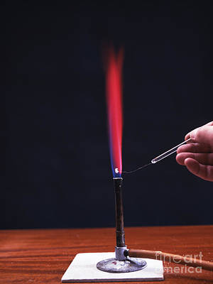 Lithium Flame Test Poster