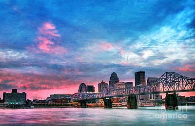 Louisville Kentucky Poster by Darren Fisher