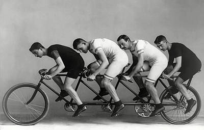 4 Man Bike  1898 Poster by Daniel Hagerman