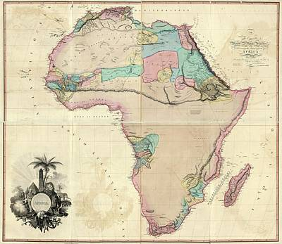 Map Of Africa Poster by Library Of Congress, Geography And Map Division