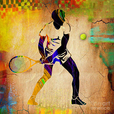 Mens Tennis Poster by Marvin Blaine
