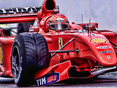 Michael Schumacher  Poster by Srdjan Petrovic