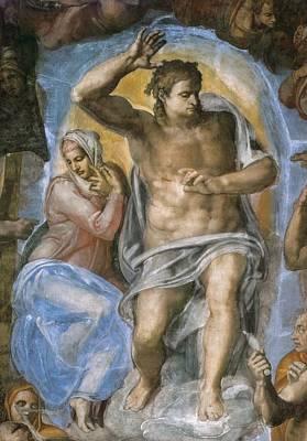 Michelangelo 1475-1564. Sistine Chapel Poster by Everett