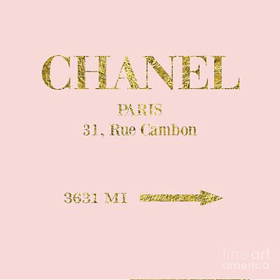 Mileage Distance Chanel Paris Poster