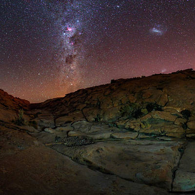 Milky Way Over The Atacama Desert Poster by Babak Tafreshi