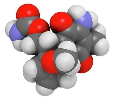 Mitomycin C Cancer Drug Molecule Poster