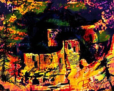 Montezuma Castle Poster by Wayne  Ligon