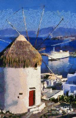 Mykonos Town Poster by George Atsametakis