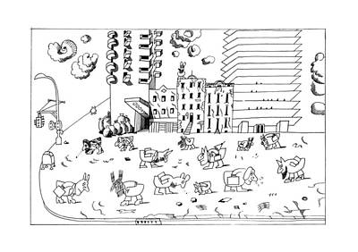 New Yorker September 19th, 1977 Poster by Saul Steinberg