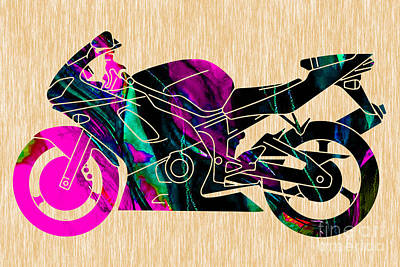 Ninja Motorcycle Poster by Marvin Blaine