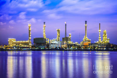 Oil Refinery Plant Poster