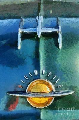 1951 Oldsmobile 98 Deluxe Holiday Sedan Poster by George Atsametakis