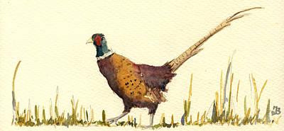 Pheasant Poster by Juan  Bosco
