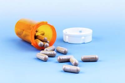 Pills In Bottle Poster by Wladimir Bulgar