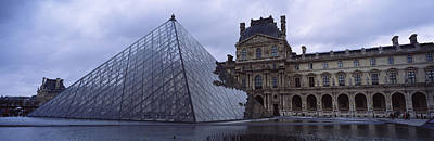 Pyramid In Front Of A Museum, Louvre Poster