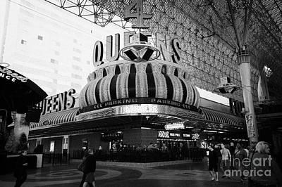 4 Queens Las Vegas Casino Hotel Freemont Street Nevada Usa Poster