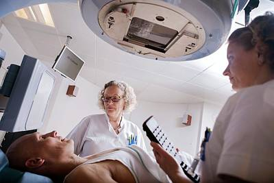 Radiotherapy Treatment Poster by Thomas Fredberg