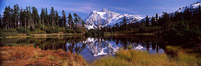 Reflection Of Mountains In A Lake, Mt Poster by Panoramic Images
