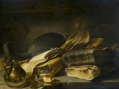 Rembrandt Books Still Life Poster by Rembrandt