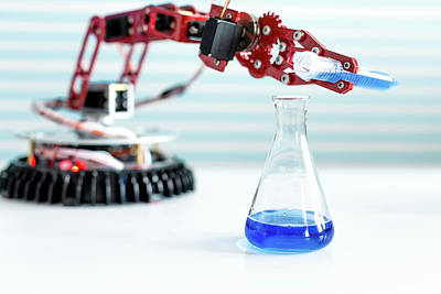 Robotic Arm Pouring Chemical Poster