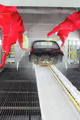 Robotic Car Production Line Poster by Jim West