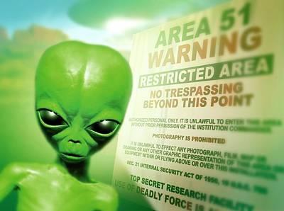Roswell Alien Poster by Detlev Van Ravenswaay