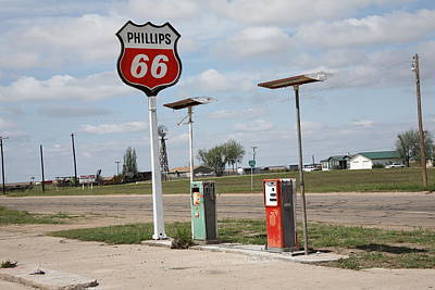 Route 66 - Adrian Texas Poster by Frank Romeo