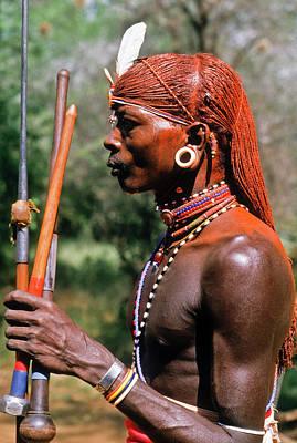 Samburu Warrior Poster by Michele Burgess