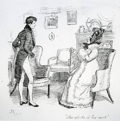 Scene From Pride And Prejudice By Jane Austen Poster
