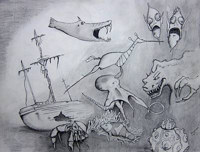 Sea Dragon Poster by Dan Twyman