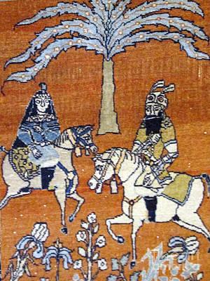 Shahnameh Ferdowsi Rostam And Sohrab Photos Of Persian Antique Rugs Kilims Carpets  Poster