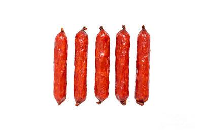Small Smoked Sausages Poster by Aleksey Tugolukov
