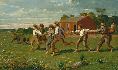 Snap The Whip Poster by Winslow Homer