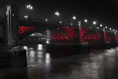 Southwark Bridge London Poster by David Pyatt