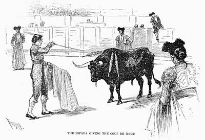 Spain Bullfighting, 1891 Poster
