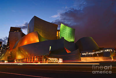 Sunset At The Walt Disney Concert Hall In Downtown Los Angeles. Poster by Jamie Pham