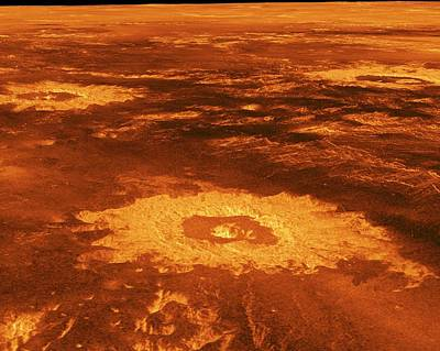 Surface Of Venus Poster by Nasa/jpl
