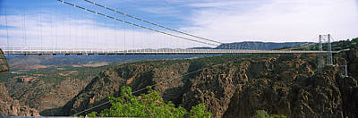 Suspension Bridge Across A Canyon Poster by Panoramic Images