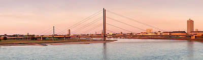 Suspension Bridge Across A River Poster by Panoramic Images