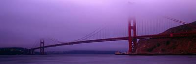 Suspension Bridge Across The Sea Poster
