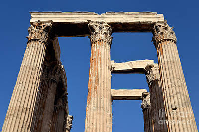 Temple Of Olympian Zeus In Athens Poster by George Atsametakis