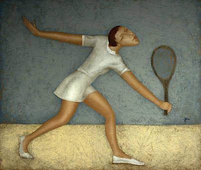 Tennis Poster by Nicolay  Reznichenko