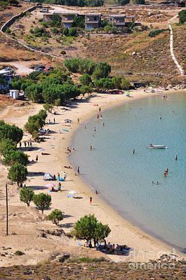 The Famous Psili Ammos Beach Poster by George Atsametakis